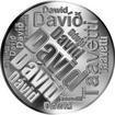 Česká jména - David - velká stříbrná medaile 1 Oz