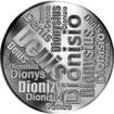 Česká jména - Denis - velká stříbrná medaile 1 Oz