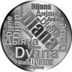 Česká jména - Diana - velká stříbrná medaile 1 Oz