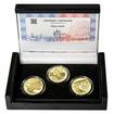 MOST V LENOŘE - JIŽNÍ ČECHY – návrhy mince 5000,-Kč sada tří Au medail
