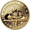 Sada zlatého dukátu a stříbrného odražku NM IV. Karlštejn - proof