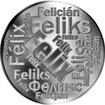 Česká jména - Felix - velká stříbrná medaile 1 Oz