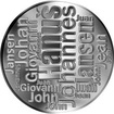 Česká jména - Hanuš - velká stříbrná medaile 1 Oz