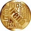 Česká jména - Irena - velká zlatá medaile 1 Oz