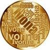 Česká jména - Ivona - velká zlatá medaile 1 Oz