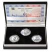 JAN HUS - sada I. – návrhy mince 10000,-Kč sada tří Ag medailí 1 Oz b.
