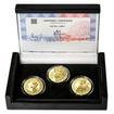 JAN HUS - sada I. – návrhy mince 10000,-Kč sada tří Au medailí 1/2 Oz
