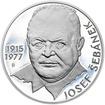Josef Šebánek - 100. výročí narození stříbro patina