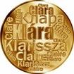 Česká jména - Klára - velká zlatá medaile 1 Oz