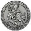 Korunovace Vladislava II českým králem - stříbro patina