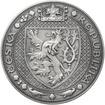 Nejkrásnější medailon II. - Královská pečeť - 50 mm Ag patina