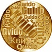 Česká jména - Kvido - velká zlatá medaile 1 Oz
