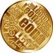 Česká jména - Leona - velká zlatá medaile 1 Oz