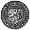 Lev a Orlice - stříbro 1 Oz patina
