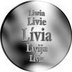 Slovenská jména - Lívia - velká stříbrná medaile 1 Oz