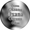 Slovenská jména - Oxana - velká stříbrná medaile 1 Oz