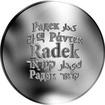 Česká jména - Radek - velká stříbrná medaile 1 Oz