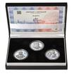 RUDOLF II. – návrhy mince 200,-Kč - sada tří Ag medailí 34mm b.k.