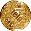 Česká jména - Stela - velká zlatá medaile 1 Oz