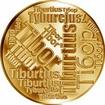Česká jména - Tibor - velká zlatá medaile 1 Oz