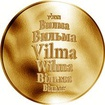 Česká jména - Vilma - zlatá medaile