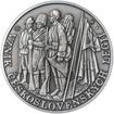 Založení československých legií - 100. výročí stříbro patina