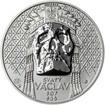 Relikvie Sv. Václava - vzor 2 - 1 Oz Ag REVERSE Proof