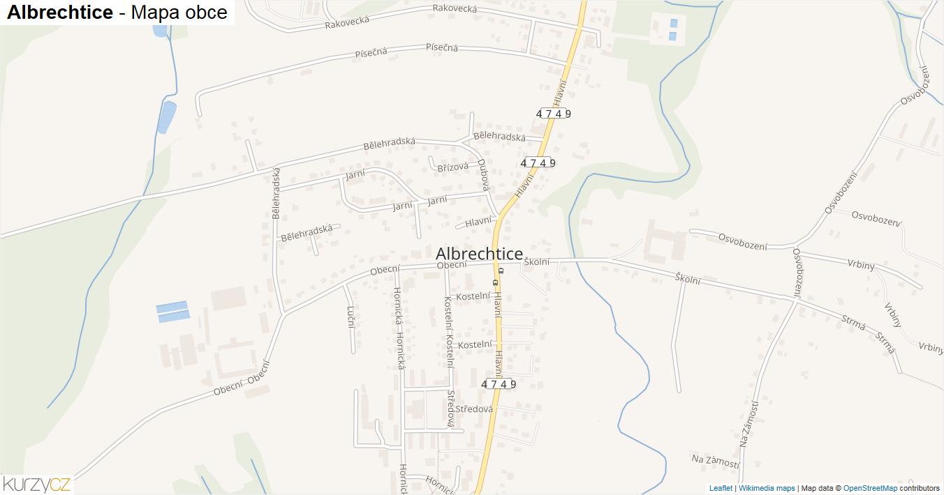 Albrechtice - mapa obce