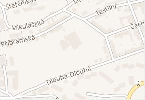 Aš v obci Aš - mapa části obce