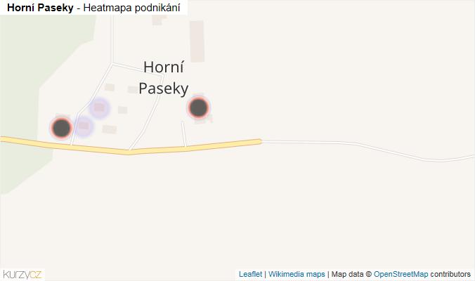 Mapa Horní Paseky - Firmy v části obce.