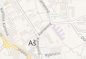 Kamenná v obci Aš - mapa ulice