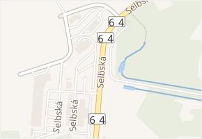 Selbská v obci Aš - mapa ulice
