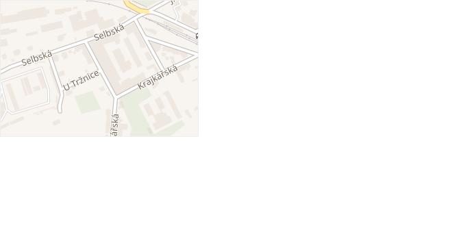 Tovární v obci Aš - mapa ulice