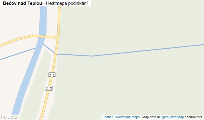 Mapa Bečov nad Teplou - Firmy v obci.