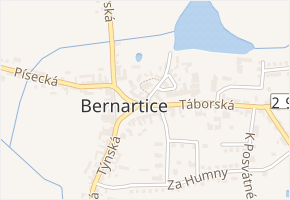 Bernartice v obci Bernartice - mapa části obce