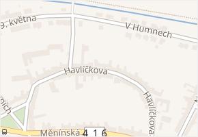 Havlíčkova v obci Blučina - mapa ulice