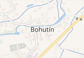 Bohutín v obci Bohutín - mapa části obce