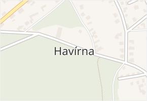 Havírna v obci Bohutín - mapa části obce