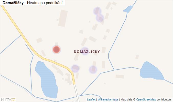 Mapa Domažličky - Firmy v části obce.
