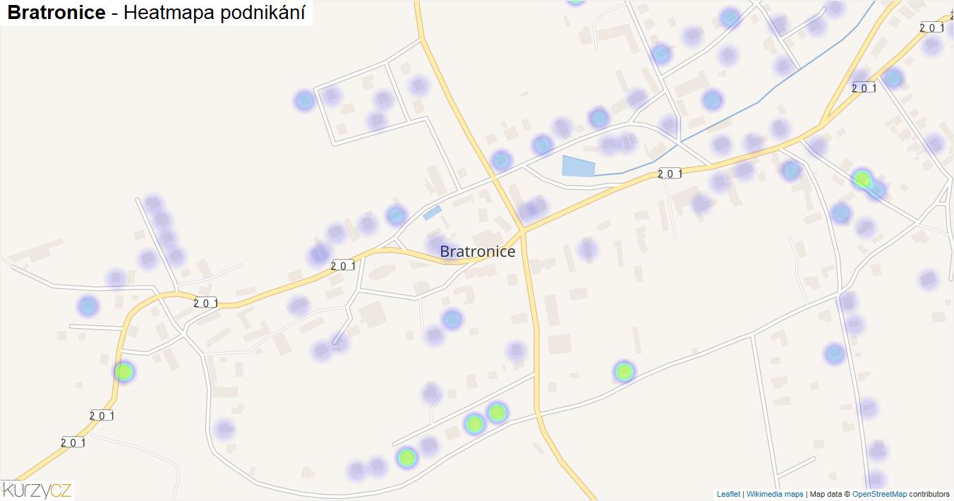 Bratronice - mapa podnikání