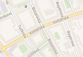 Botanická v obci Brno - mapa ulice
