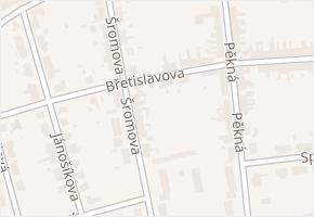 Brno-Chrlice v obci Brno - mapa městské části