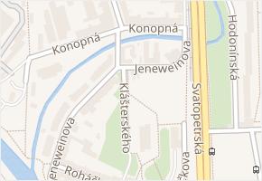 Brno-jih v obci Brno - mapa městské části