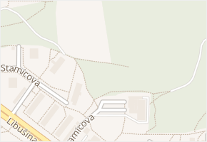 Brno-Kohoutovice v obci Brno - mapa městské části