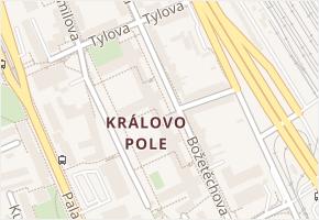 Královo Pole v obci Brno - mapa části obce