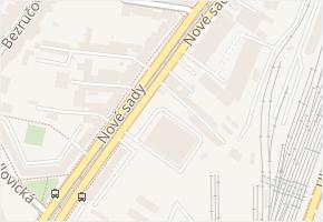 Nové sady v obci Brno - mapa ulice
