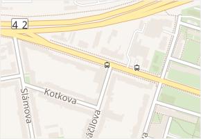 Olomoucká v obci Brno - mapa ulice
