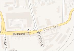 Pražákova v obci Brno - mapa ulice