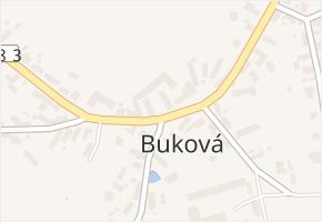 Buková v obci Buková - mapa části obce