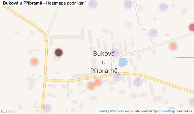 Mapa Buková u Příbramě - Firmy v části obce.